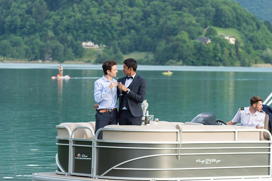 bateau privé demande en mariage